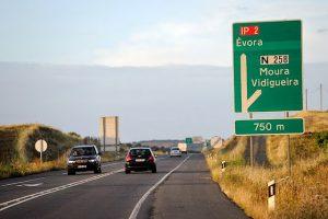 Rutas y carteles en Portugal