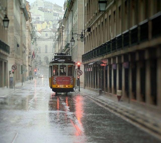 Lluvias en Lisboa