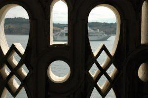 Vista desde la Torre de Belém en Lisboa