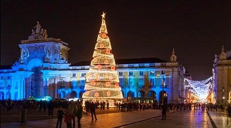 Lisboa durante la Navidad y el Año Nuevo