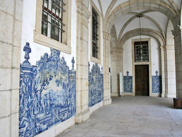 Azulejos del interior del Monasterio de São Vicente de Fora
