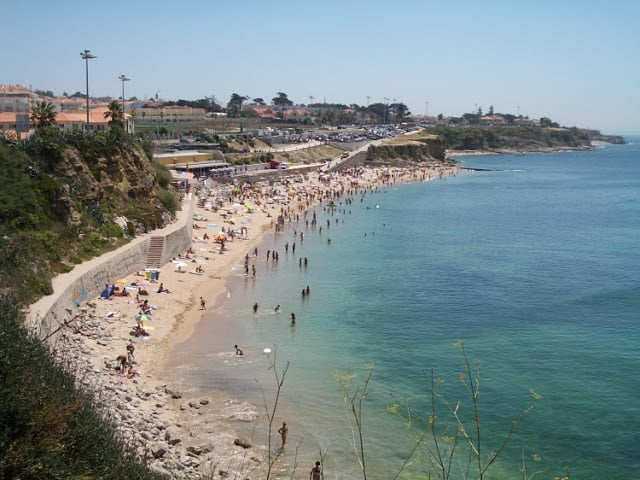 Praia de São Pedro do Estoril en Portugal