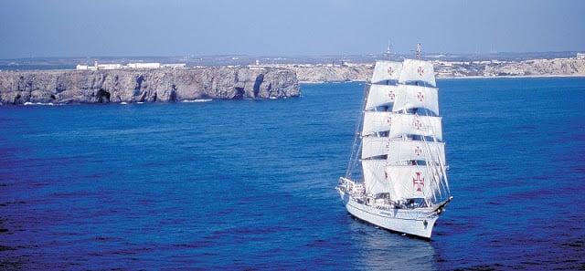 Barco en Sagres