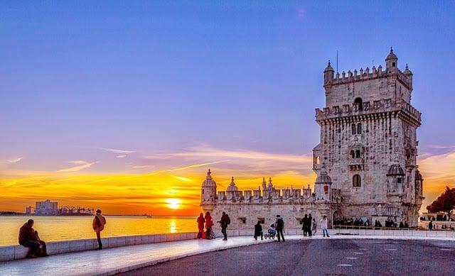 Atardecer en la Torre de Belém