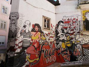 Grafiti sobre el fado en Lisboa