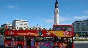 Autobús turístico en Lisboa